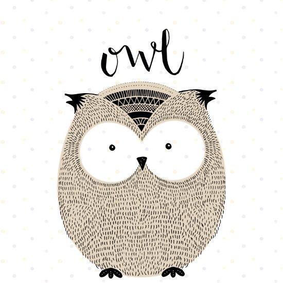 Owl - Acuarela