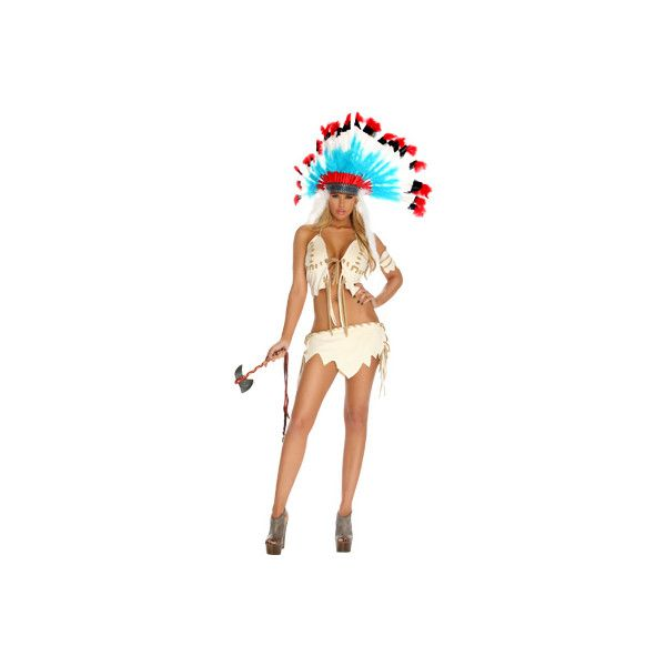 Women's Forplay Tribal Tease Sexy Costume - Cream Costumes ($84) ❤ liked on Polyvore featuring costumes, yellow, lady halloween costumes, ladies halloween costumes, white lady costume, sexy women halloween costumes and sexy costumes