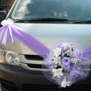 #Purple #wedding #car ... Wedding ideas for brides, grooms, parents &…