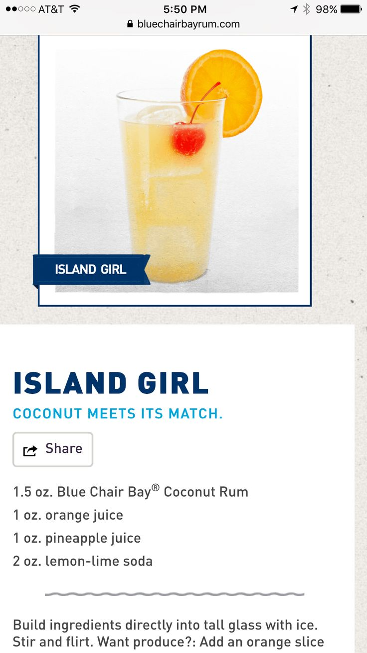 Must have kenny chesneys blue chair bay coconut rum