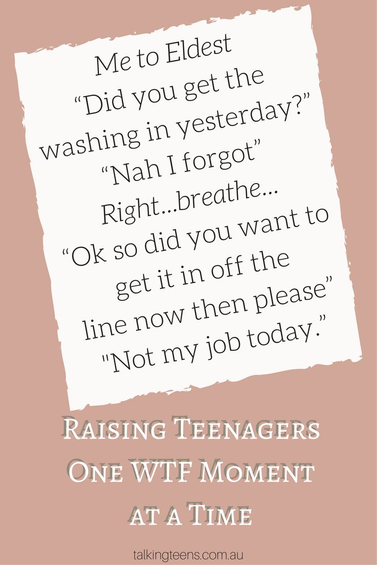 Raising Teenagers One WTF moment at a time!   #lifewithteens  #talkingteens www.talkingteens.com.au