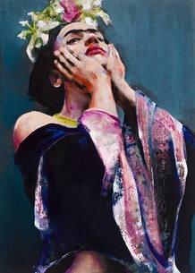 Frida Kahlo captured by Lita Cabellut
