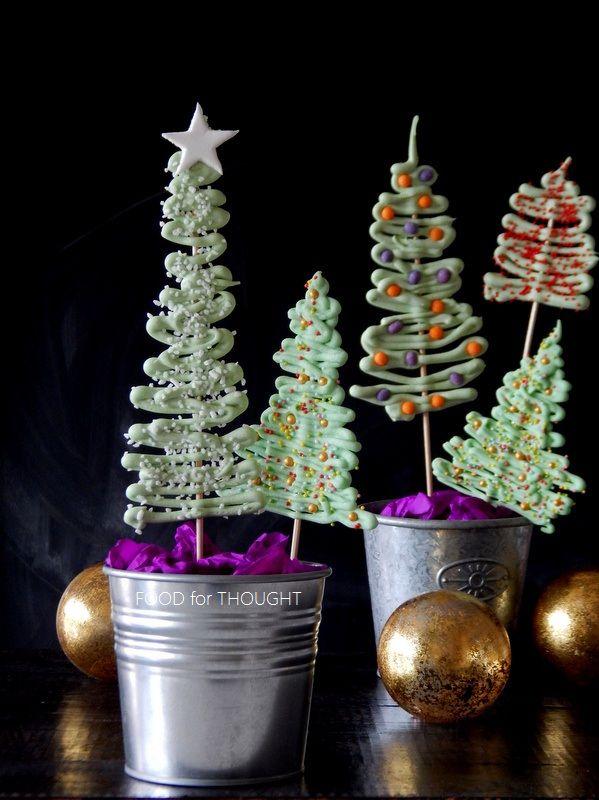 Food for thought: Χριστουγεννιάτικα δεντράκια από σοκολάτα και η τούρτα του μπαμπά