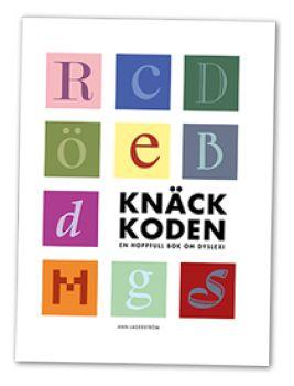 Knäck koden - en hoppfullbok om dyslexi. Går det att lära de flesta dyslektiker att läsa och skriva? Kan man bli direktör, lärare och pressombudsman om man har dyslexi? Och finns det skolor i Sverige där i princip varenda elev behärskar svenska språket? Svarat på de här tre frågorna är ja och i den här boken tar vi er med på en resa där ni får träffa passionerade lärare, engagerade forskare, stolta dyslektiker och en väldigt arg professor.
