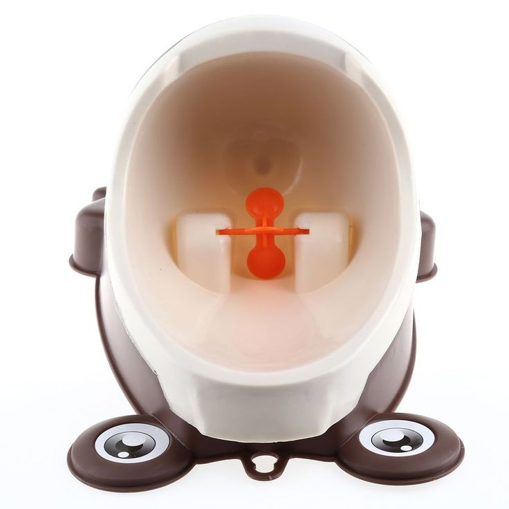 Brand New Baby Urinal Cute Boy's Potty Standing Urinal Separation Strong Sucker Toilet Training with Rotation Fan Frog Shape Toy