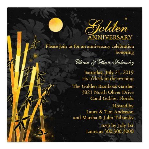 50th Golden Wedding Anniversary Party Invitations