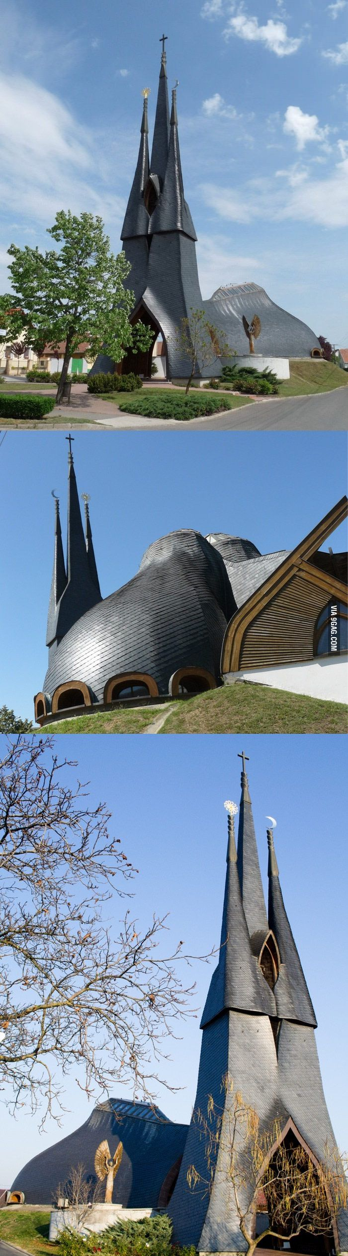 Picture of the local church. Paks/Hungary - 9GAG