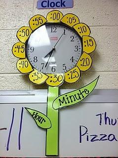 Horloge fleur école