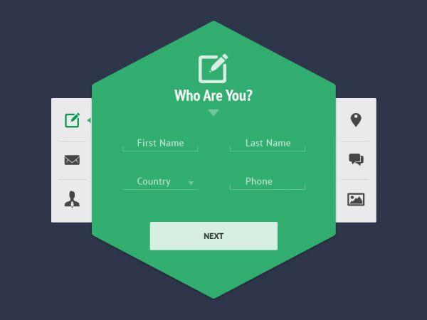 Clean Signup / Webdesign