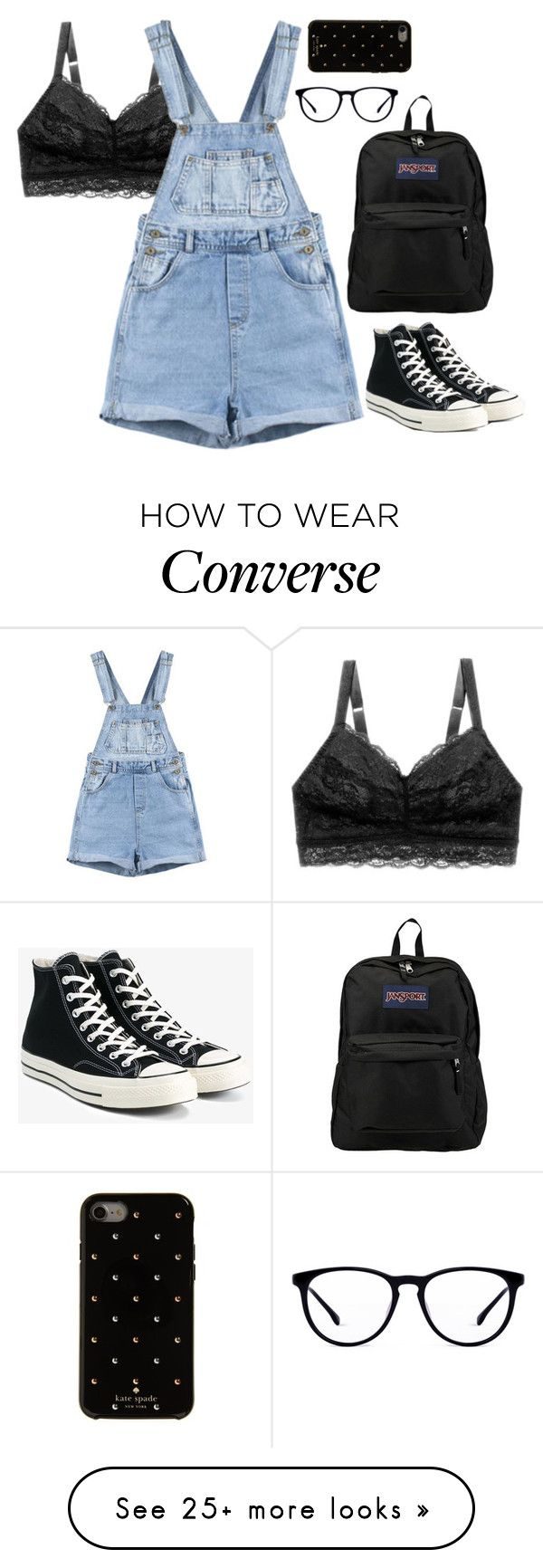 """""""~ The Coffee Cup, I Think About You ~"""" by grantaiire on Polyvore featuring Cosabella, Converse, JanSport and Kate Spade"""