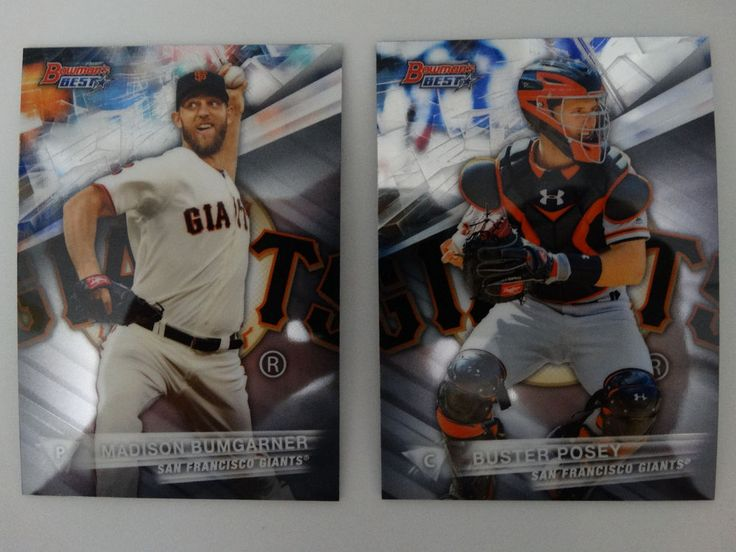 2016 Bowman's Best San Francisco Giants Team Set 2 Baseball Cards #sfgiants #BowmansBest #SanFranciscoGiants