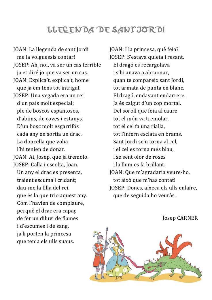 comprensió lectora-llegenda-st-jordi by Lila  via Slideshare