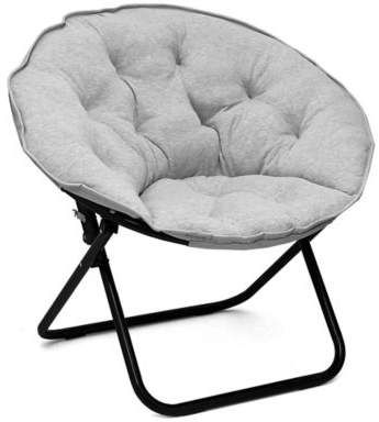 Bed Bath & Beyond Saucer Chair in Light Grey | Chair ...
