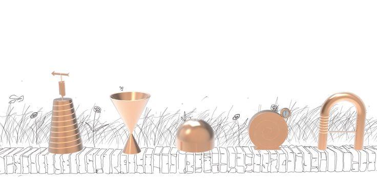 """Categoria studenti, menzione speciale: """"Bernacca, stazione meteorologica"""", di Giulio Comandini. Anemometro, igrometro, pluviometro, barometro, termometro: un'intera stazione meteorologica viene costruita con grande attenzione alla funzionalità, ma anche con la chiara intenzione di costruire un panorama di forme altamente evocativo."""