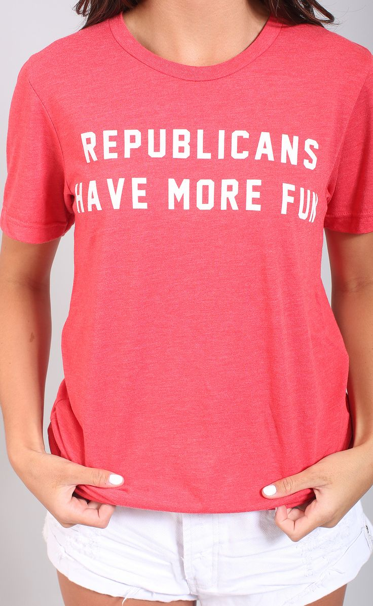 "We think our fellow dems would beg to differ.. but there's a t shirt for them too ;) show your political party pride in this fun tee! - parker is 5'3"" and is wearing a size small - polyester - machine"