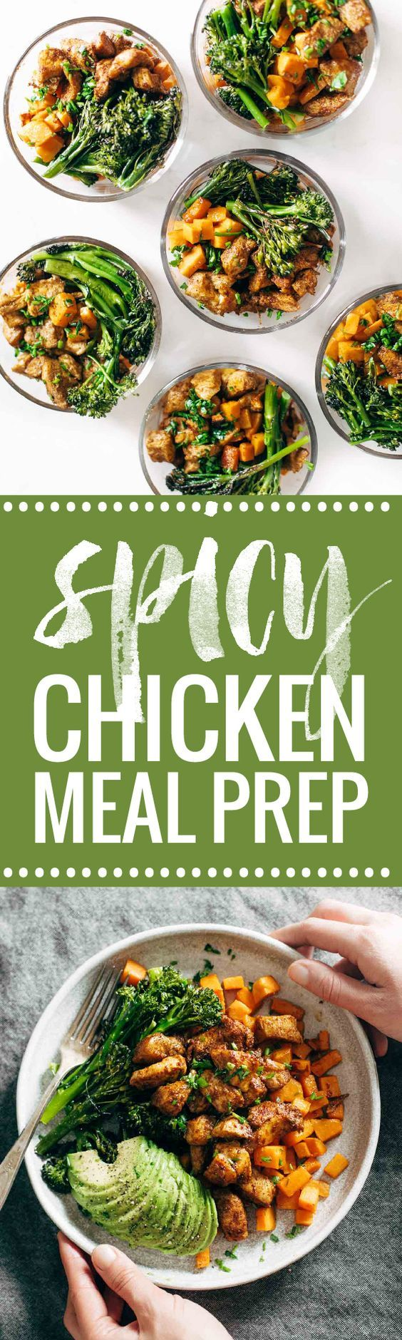 Spicy Chicken and Sweet Potato Meal Prep Magic! 3 big sheet pans + 45 minutes = healthy meals for a week! | pinchofyum.com