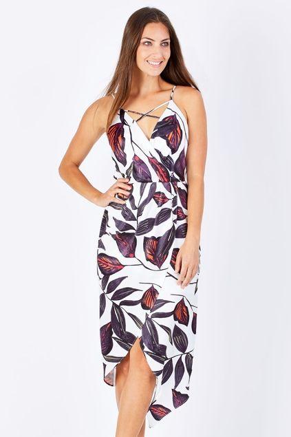 3rd Love Amiah Drape Dress - Womens Knee Length Dresses - Birdsnest Fashion Clothing