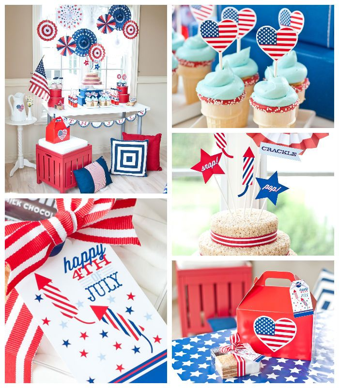 All American 4th of July Party with SUCH CUTE IDEAS via Karau0027s Party Ideas! Full  sc 1 st  Pinterest : patriotic party decorating ideas - www.pureclipart.com