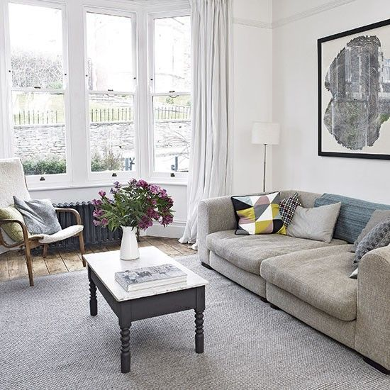 Neutral toned living room