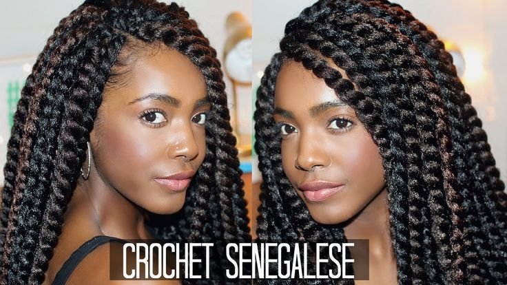 How To: Easy Natural Looking Crochet Senegalese Twists // Braiding Patte...