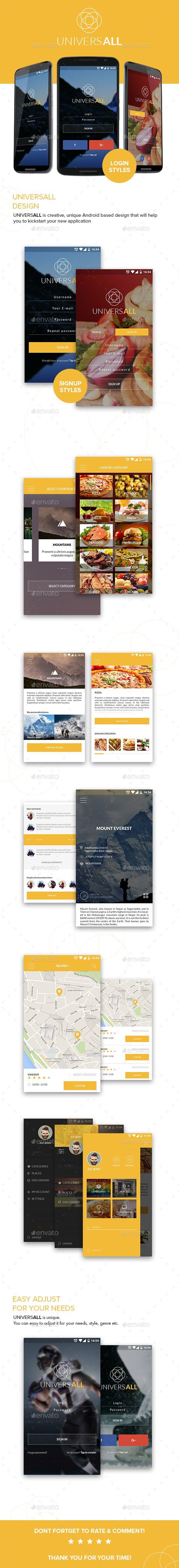 Universall   Mobile App Design