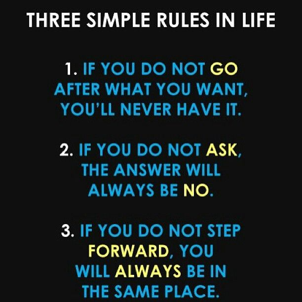 Simple Pinterest Quotes: 3 Simple Rules In Life