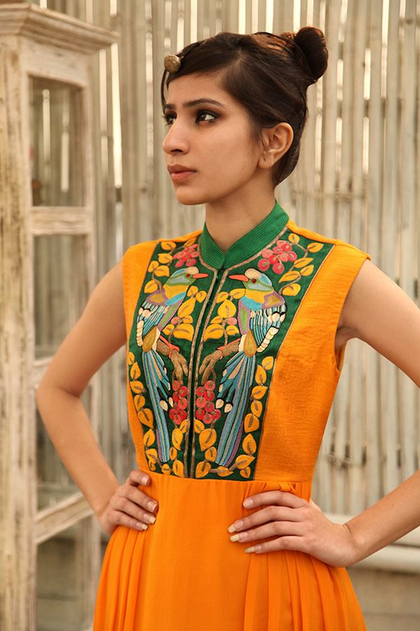 Designer #Kurti with embroidered