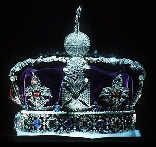 The Imperial State Crown which Victoria wore at her coronation