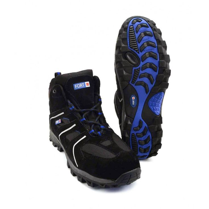 Men's Safety Work Wear Steel Toe Caps Outdoor Hiking Boots Style in Black