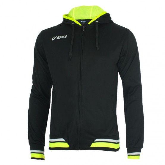 Melegítő felső Asics Jacket Tir fekete,neon sárga unisex