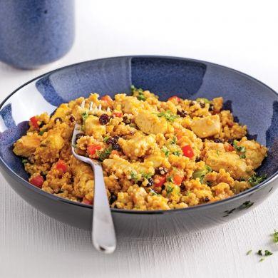 Salade tiède de quinoa et de poulet au cari - Recettes - Cuisine et nutrition - Pratico Pratique