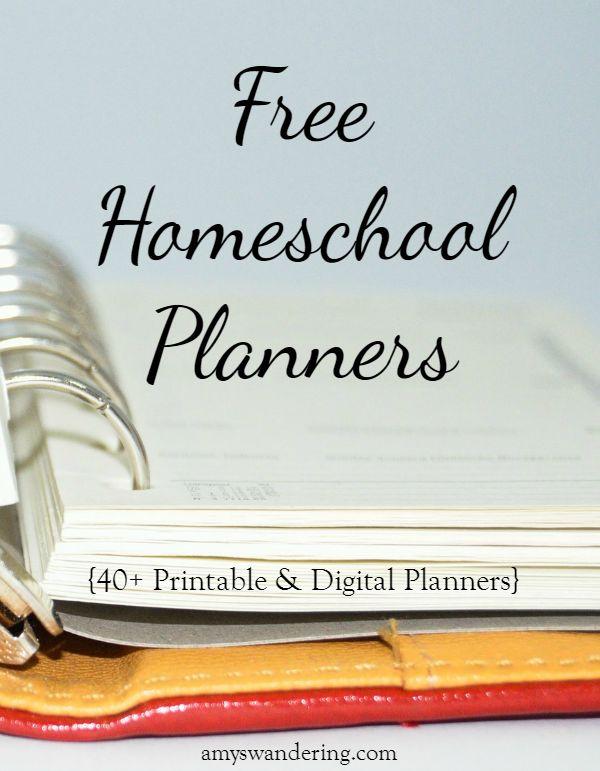 Free Homeschool Planners: 40+ Printable & Digital Homeschool Planners