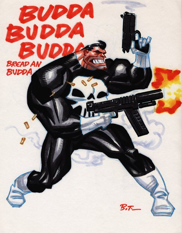 PunisherbyBruce Timm. Okay, so he's got white boots and gloves. This time I'm fine with letting it go.