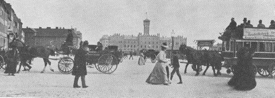 Halmtorvet (Rådhuspladsen) i 1893