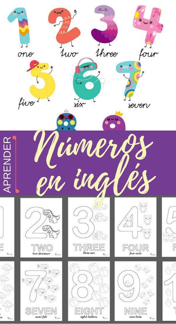 Números En Inglés Education English Class 7 Seven