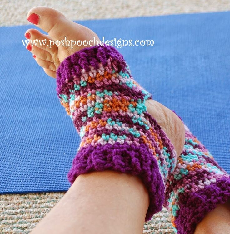 Easy Knitting Pattern For Yoga Socks : Posh Pooch Designs Dog Clothes: Yoga Sock Crochet Pattern ...