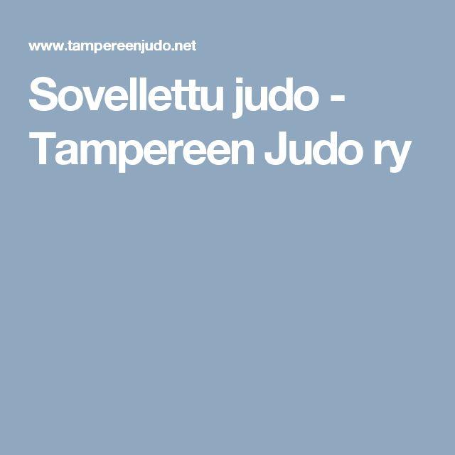 Sovellettu judo - Tampereen Judo ry