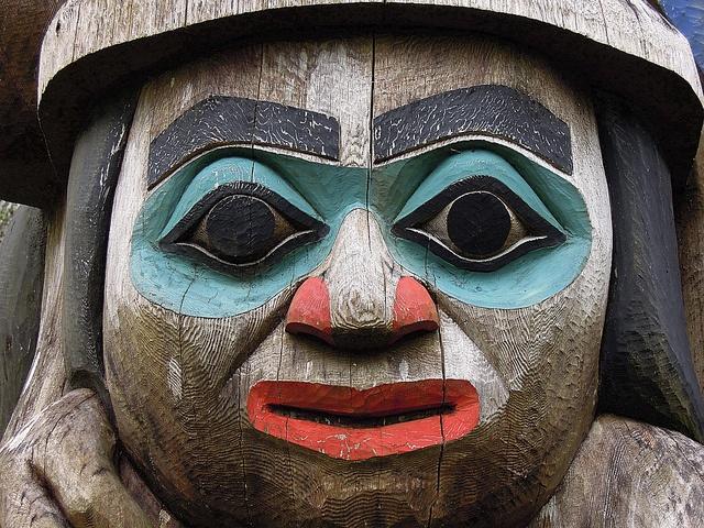 Ketchikan totem man by Matthew Wild, via Flickr