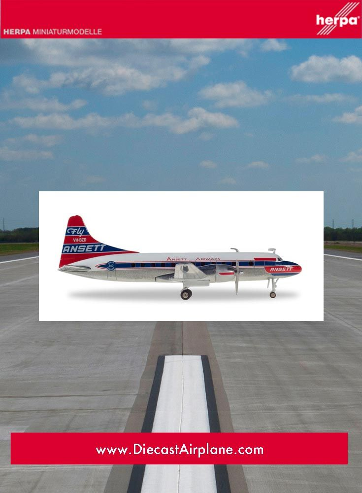 Ansett Airways Convair CV-340 (1:200) | Herpa Wings | Model