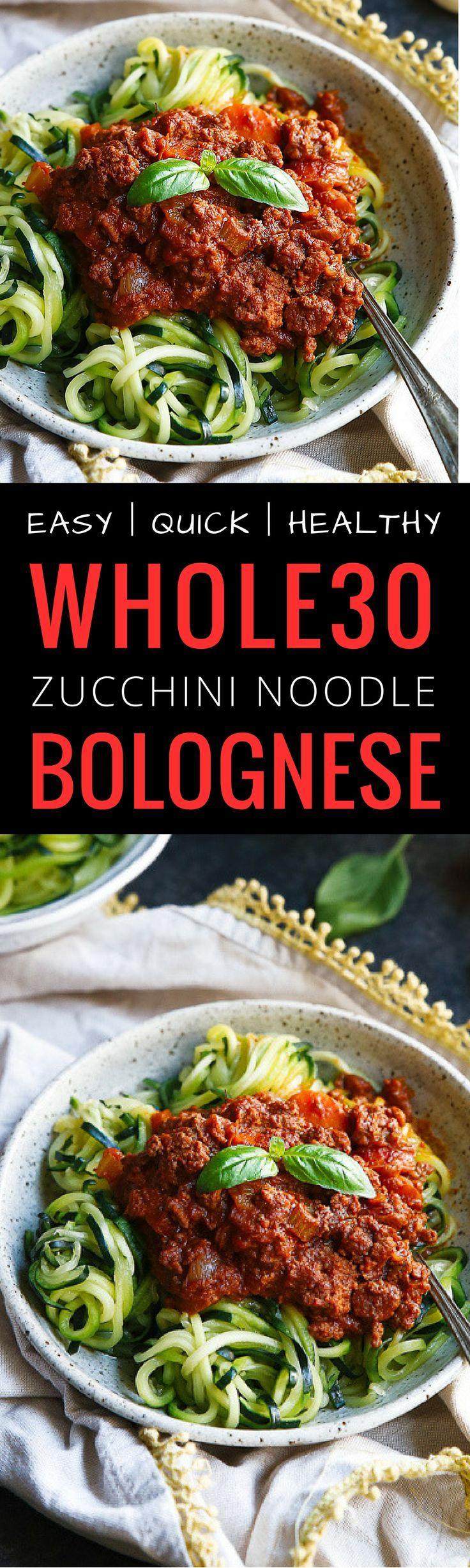 Whole30 Zucchini Noodle Bolognese. Paleo bolognese…