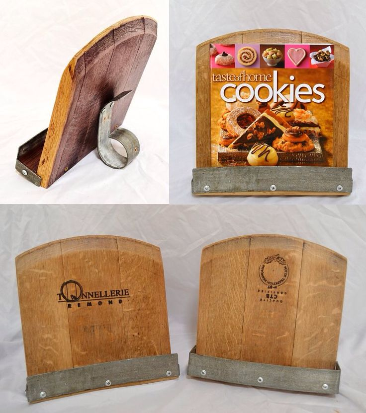 Great cookbook holder made from repurposed wine