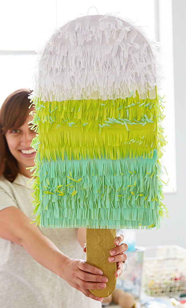 Your summer party needs a popsicle piñata.