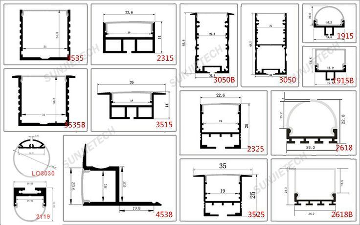 7026 Wall mount LED u channel aluminium profile for led