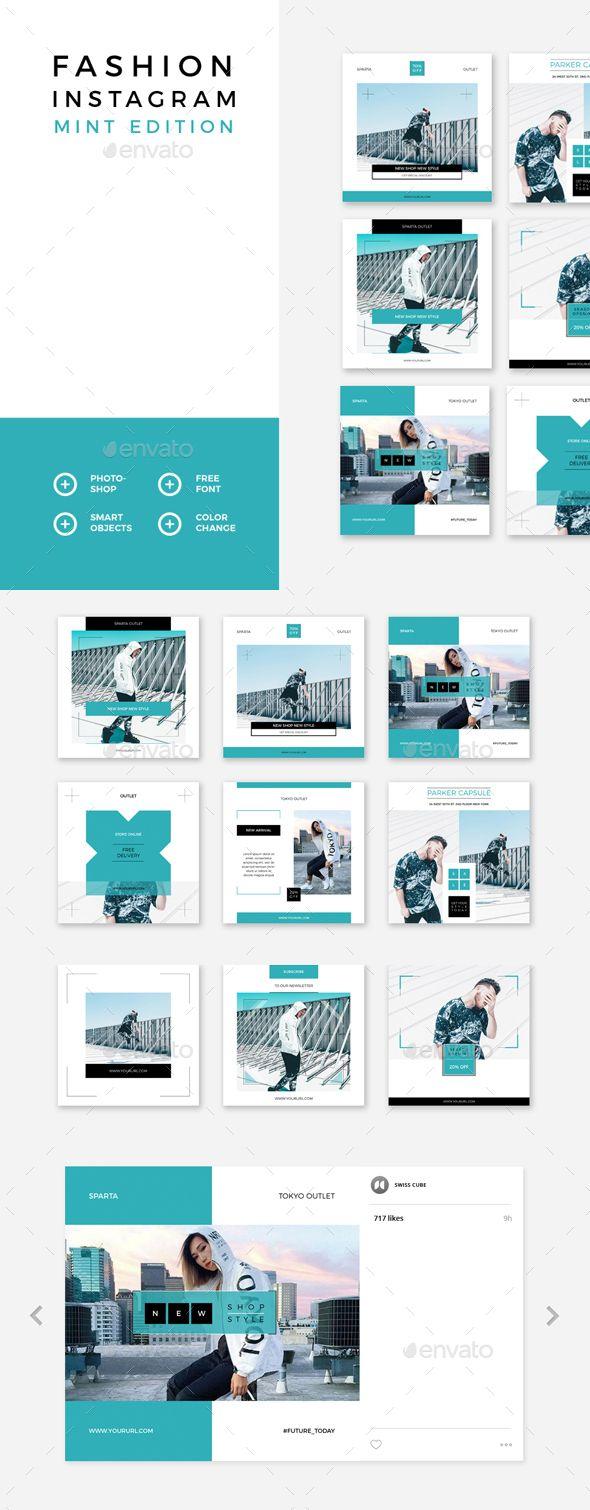 Fashion Instagram – Mint Edition - Social Media Web Elements