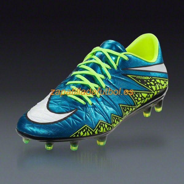 Botas De futbol Nike Hypervenom Phinish FG Laguna Azul Blanco Voltio Negro - Haga un click en la imagen para cerrar