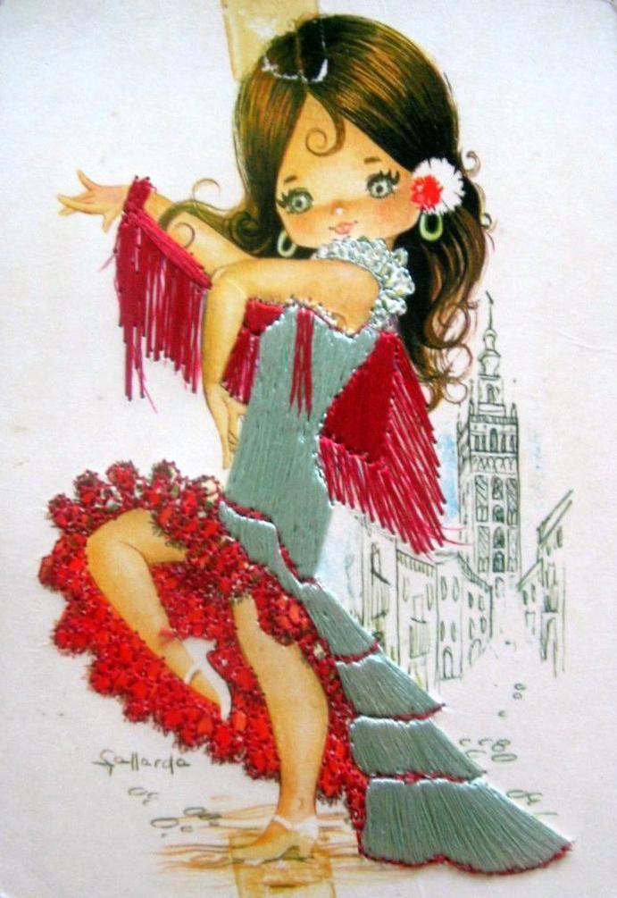 Открытки танцующая девушка, святому валентину