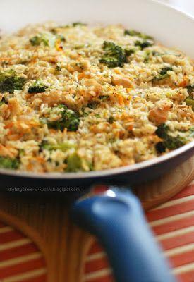 Zapiekanka ryżowa z kurczakiem curry
