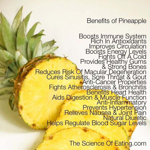 Many are aware that this fruit is rich in vitamins. What many are not aware of is that pineapple has a host of other health benefits, having properties that help to fight against various illness and sicknesses.