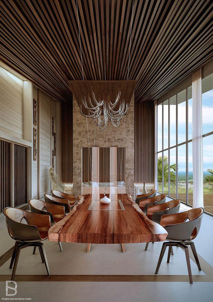 3d Room Interior Design: Tropical Luxury, Meeting Room