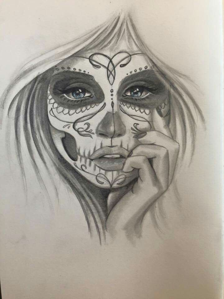 Frau Frau Best Picture For Girl Tattoo Body For Your Taste You Are Looking For Something And In 2020 Skull Girl Tattoo Sugar Skull Art Drawing Sugar Skull Tattoos